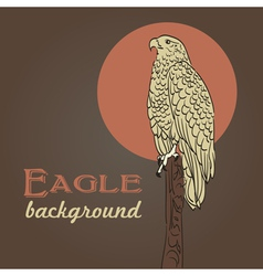 eagle background vector image
