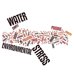 Environmental stress text background word cloud vector