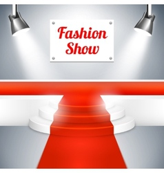 Fashion Show catwalk with a red carpet vector image vector image