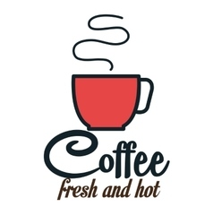 icon cup coffee hot fresh design vector image