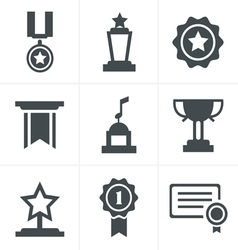 Medals icons vector image