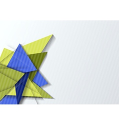 Origami paper banner template vector
