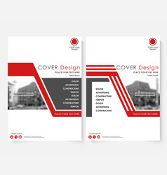 red cover design template for annual report vector image