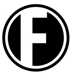 Round f logo vector