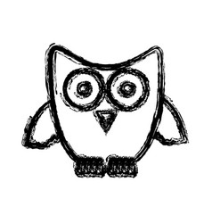 Silhouette stylized owl icon vector