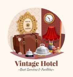 vintage hotel composition vector image vector image