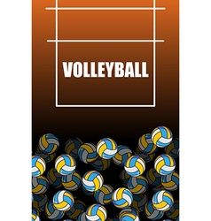 volleyball field and ball Lot of balls Volleyball vector image