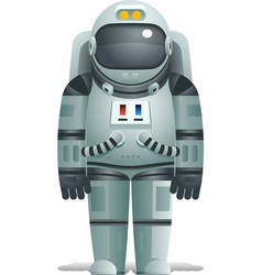 Cosmonaut realistic 3d astronaut isolated spaceman vector