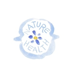 Nature health beauty promo sign vector