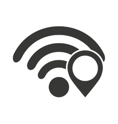 Wifi waves signal with icon vector