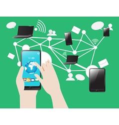 Social Media SmartPhone Tablet Notebook Internet vector image