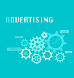 Advertising graphic for business concept vector