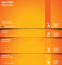 Abstract orange background vector