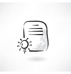 document idea grunge icon vector image