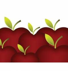 Set of red apples vector