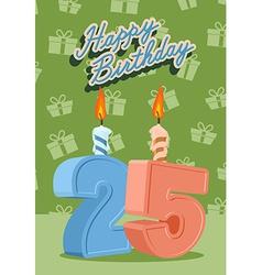 25 years celebration 25nd happy birthday vector image