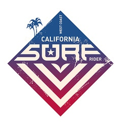 California west coast surfers pacific ocean team vector