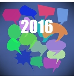Colorful new year speech bubbles vector