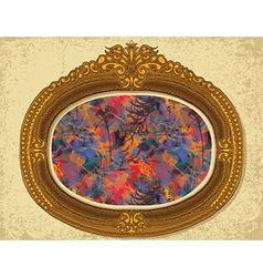 frame floral2 vector image