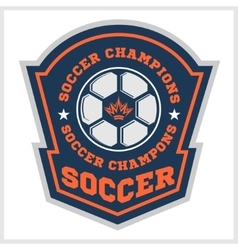 Soccer badge - emblem on light background vector