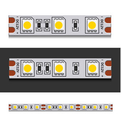 Led light strip seamless vector