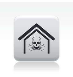 dangerous home icon vector image