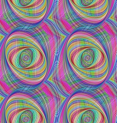 Repeating colorful ellipse fractal pattern design vector