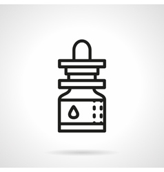 Essential oil black line icon vector