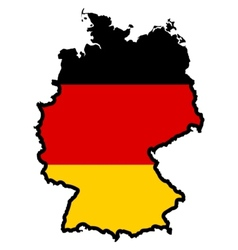 Map in colors of germany vector