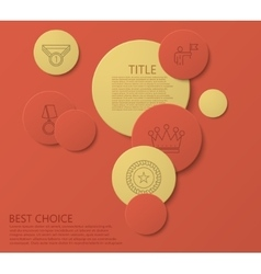 Modern circle award infographic background vector