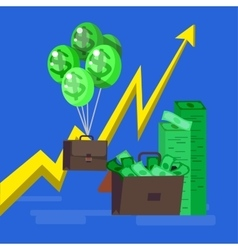 Bank money profit and investment vector
