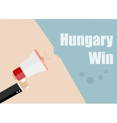 Hungary win flat design business vector