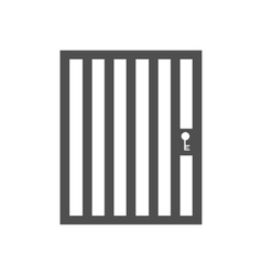 Aviary cage door vector
