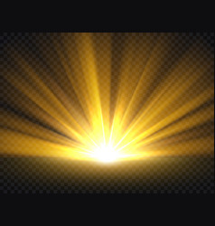 abstract golden bright light gold shine burst vector image