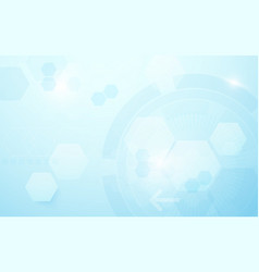 abstract hexagons and circle digital technology vector image