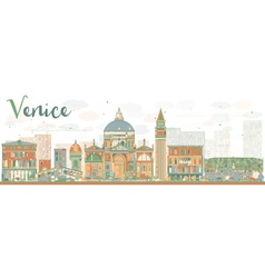 Abstract Venice Skyline Silhouette vector image vector image
