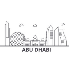 abu dhabi architecture line skyline vector image