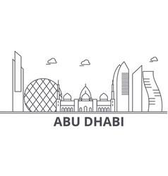 Abu dhabi architecture line skyline vector