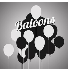 balloons poster vector image