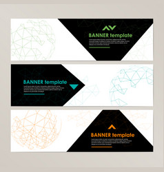 banner template design with spherical and vector image vector image