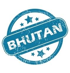 Bhutan round stamp vector