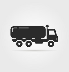 Black oil tanker icon vector
