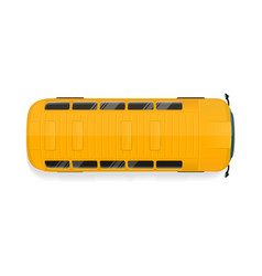 bus top view flat vector image vector image