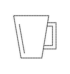 ceramic cup handle kitchen utensil vector image