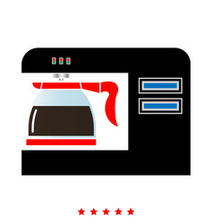 Coffeemaker coffee machine icon flat style vector