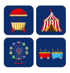 Collection of elements related to carnival and vector