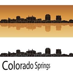 Colorado springs skyline vector