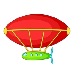 Dirigible icon cartoon style vector