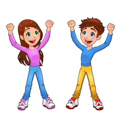 Enthusiast boy and girl vector
