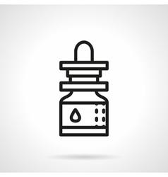 Essential oil black line icon vector image
